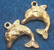 50Pcs. WHOLESALE Tibetan Silver DOLPHIN Charms Pendants Earring Drops Q0254