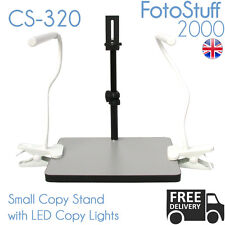 Cs 320 petite copie stand/tribune avec led copie lights | 32 cm max hauteur | uk