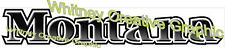 """MONTANA Older Style RV LOGO Lettering decal 39"""" x 6.5"""""""