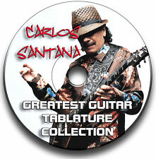 CARLOS SANTANA ROCK GUITAR TABS TABLATURE SONG BOOK ANTHOLOGY SOFTWARE CD