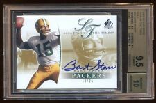 BGS 9.5 10 BART STARR 2003 SPA GOLD AUTO /25 SIGN OF THE TIMES AMAZING  HOF QB !