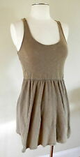ROXY Sz S Light Brown Knit Open Back Sleeveless Sun Dress