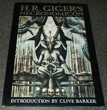 H.R. Giger's NECRONOMICON Hardcover October 1991-HR Giger-English First Edition