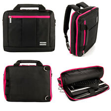 "Backpack and Messenger Bag for Dell Inspiron 17.3"" Laptop Computer Black/Magenta"