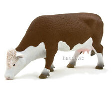 Mojo Fun 387067 Hereford Cow Grazing - Realistic Farm Animal Toy Replica - NIP