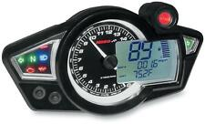 Koso North America BA011WO2 RX-1N GP-Style Speedometer Black - 2201-0072
