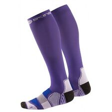 Skins Women's Active Essentials Compression Socks Purple/Violet Large