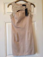 Ladies Beige Amber Krystal London Dress Size 10 **New with tags**
