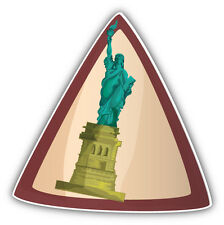 "Statue Of Liberty USA Landmark Travel Car Bumper Sticker Decal 5"" x 5"""