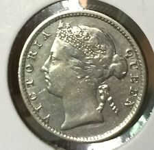 1891 10 cents Q.V silver coin  very  high grade!