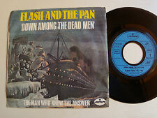 """FLASH AND THE PAN: Down among the dead men 7"""" 45T French MERCURY 617304 TITANIC"""