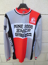 VINTAGE Maillot cycliste ASCR MINIC 2000 SNCF Cycles GEFFRAULT manches longues M