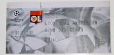 Ticket for collectors CL Olympique Lyon Ajax Amsterdam 2002 France Holland