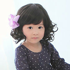 New Fashion Cute Wigs Baby Child Wig Black Curly Hair Princess Girl Wig
