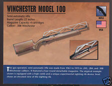 WINCHESTER MODEL 100 SEMI-AUTO RIFLE .308 Atlas Classic Firearms Gun PHOTO CARD