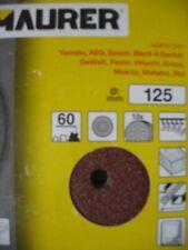 10 DISCHI ABRASIVI 125 mm PER LEVIGATRICE ECCENTRICA VELCRATI GR. 100