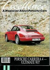 EXELENCE A MAGAZINE ABOUT PORSCHE CARS OLD VINTAGE FEBRUARY 1989