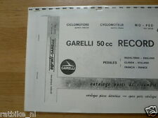 G0100 GARELLI---SPARE PART CATALOGUE 50cc RECORD----MODEL