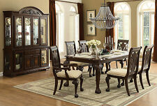 BELMONT - 7pcs TRADITIONAL CHERRY BROWN RECTANGULAR DINING ROOM TABLE CHAIRS SET