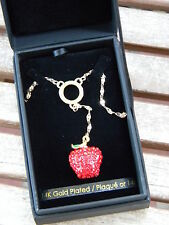 Once Upon a Time Snow White Swarovski Crystal Apple Necklace Fairytale Disney LE