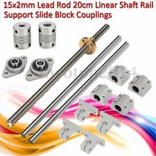 SET de 15x Bearing 2mm Lead Screw CNC Rod Eje Lineal Rail Acoplamiento Cojinete