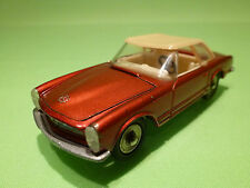 DINKY TOYS 516 MERCEDES BENZ 230 SL - RED 1:43 - PERFECT RESTAURATION - CODE 3