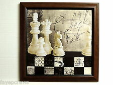 CHESS GAME PICTURE CHECK MATE FRAMED 12X12