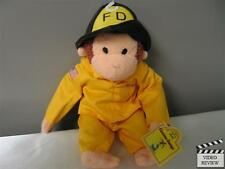 Curious George Fireman plush doll; Applause NEW