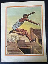 Jesse Owens Autographed Signed Magazine Photo PSA 1936 Olympics