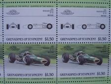 1966 BRABHAM REPCO BT19 F1 GP Car 50-Stamp Sheet / Auto 100 Leaders of the World