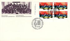 CANADA #1010 32¢ MONTREAL SYMPHONY LL INSCRIPTION BLOCK FIRST DAY COVER