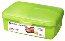 Sistema Kids School 4 Compartment Lunchbox with Water Bottle, 1.5L, Green
