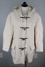 John Partridge Ivory Cream Women's Short Hooded Duffle Coat Jacket EU 40 14 16