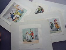 LOT GRAVURES DE MODE COSTUMES & HUMORISTIQUE 1860