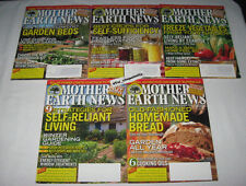 MOTHER EARTH NEWS 5 Issue LOT 2013 2014 257-261 Self Reliant Living Homestead +