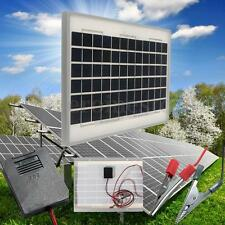 10W 12V Energy Solar Panel Battery Charger Polycrystalline + Clips And 2M Cable