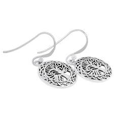 Tree Of Life 925 Sterling Silver Earrings Plain Design Jewelry AAASPJ2077