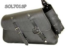 MOTORCYCLE Solo SaddleBag SIDE BAG  For Harley Davidson Sportster XL883N Iron