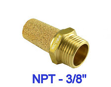 "5pcs Brass Silencer Connector NPT 3/8 "" Noise Reduce Air Valve Muffler Fitting"