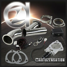 """Electric Exhaust Catback/Downpipe Cutout/E-Cut Out Valve System Kit+Remote 3"""""""