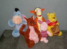 Lot Peluches Disney WINNIE/PORCINET/MAMAN PETIT GOUROU/BOURRIQUET/TIGROU
