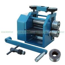 """4""""/130mm Manual Rolling Mill Roller Sheet Metal Flat Square & Half Round Combina"""