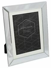 Freestanding Bevelled Glass Mirror Photo Frame With Mount 5 x 7
