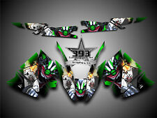 Arctic Cat ProClimb ProCross Graphics Kit Wrap With Tunnel Evil Joker Green