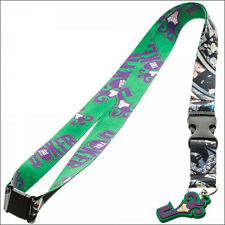 Batman Joker DC Comics Lanyard Necklace ID Holder Keychain w/ Sticker LICENSED