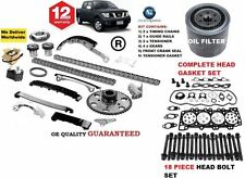 FOR NISSAN NAVARA D40 2006-  TIMING CHAIN KIT + GASKET SET & BOLTS + OIL FILTER