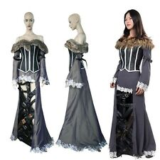 Final Fantasy X 10 Lulu Cosplay Costume Holloween Women Dress Custom Size