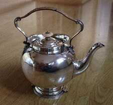 "AN ANTIQUE 9"" TALL, HUKIN & HEATH OF BIRMINGHAM, ENGLAND SILVER-PLATED TEAPOT"