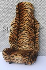 PEUGEOT 106/205/206/207/208 CAR SEAT COVER -GOLD TIGER FAUX  FUR - FULL SET