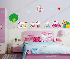 Large HELLO KITTY Removable Wall Stickers Art Decal Girls Bedroom kids Wallpaper